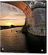Fernbridge Sunset Acrylic Print