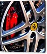 Ferrari Shoes Acrylic Print