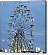 Ferris Wheel At Virginia Beach Acrylic Print