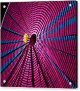 Ferris Wheel In Pink Acrylic Print