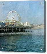 Ferris Wheel On The Santa Monica Pier Acrylic Print