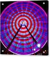 Ferris Wheel Purple Acrylic Print