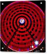 Ferris Wheel Red Acrylic Print