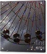 Ferris Wheel Reflection Acrylic Print