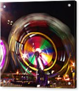 Ferris Wheels Go Round Acrylic Print