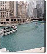 Ferry Through Chicago Acrylic Print