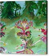 Festive Fairies Acrylic Print
