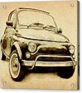 Fiat 500l 1969 Acrylic Print by Michael Tompsett