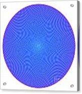 Fibonacci Figure With White Elements On Blue Acrylic Print