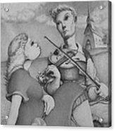 Fiddle Acrylic Print by Louis Gleason