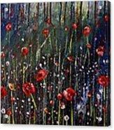 Field Of Poppies Acrylic Print