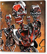 Fierce Androids Riot The City Of Tokyo Acrylic Print