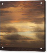 Fiery Atlantic Sunrise 1 Acrylic Print