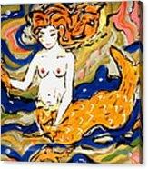Fiery Mermaid Acrylic Print