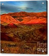 Fiery Painted Hills Acrylic Print