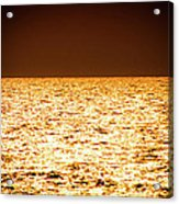 Fiery Sunset Over The Sea Acrylic Print