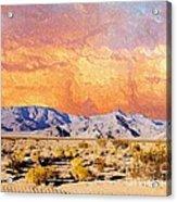 Fiery Western Sky Antarres Road Az Acrylic Print