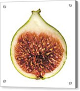 Fig Cut Open Isolated Acrylic Print