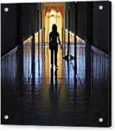 Figure In The Corridor Acrylic Print