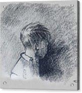 Figure Study Acrylic Print by Thomas Luca
