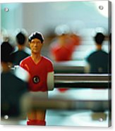 Figurine Of Football Player Acrylic Print by D.Reichardt