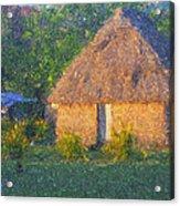 Fijian Bure Acrylic Print