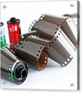 Film And Canisters Acrylic Print
