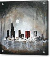 Film Noir Chicago Acrylic Print