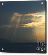 Filtered Light Through San Francisco Skyline Acrylic Print by Wingsdomain Art and Photography