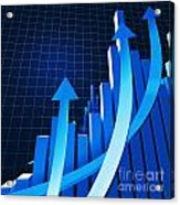 Financial Chart Acrylic Print