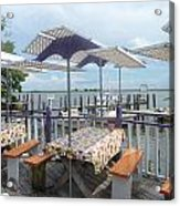 Fine Dining On The Gulf Coast Acrylic Print