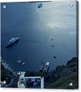 Fira Town View Santorini Acrylic Print