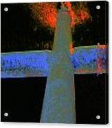 Fire And Cross Acrylic Print