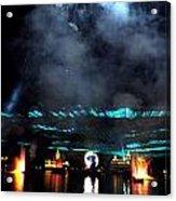 Fire Earth Water Meet Lasers Acrylic Print