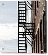 Fire Escape In Boston Acrylic Print
