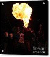 Fire Fungus Acrylic Print