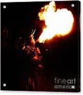Fire Girl Acrylic Print