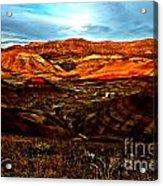 Fire In The Painted Hills Acrylic Print