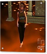 Fire Lady Acrylic Print by Stanley Morganstein