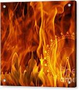 fire London skyline Acrylic Print