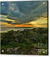 Fire Over The Outer Banks Acrylic Print