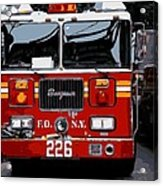 Fire Truck Color 16 Acrylic Print