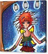 Firefly Girl Acrylic Print by Jen Kiddo