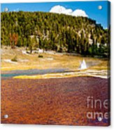Firehole Lake Acrylic Print