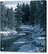 Firehole River In Yellowstone Acrylic Print