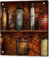 Fireman - Fire Control Acrylic Print by Mike Savad