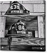 Fireman - Fire Helmets Acrylic Print