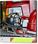 Fireman - Helmet Acrylic Print