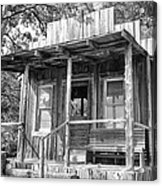 Fireman Cottage B And W Acrylic Print by Douglas Barnard