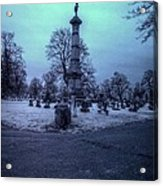 Firemans Monument Infrared Acrylic Print